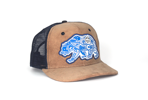 GEAR BEAR 6 PANEL TRUCKER HAT