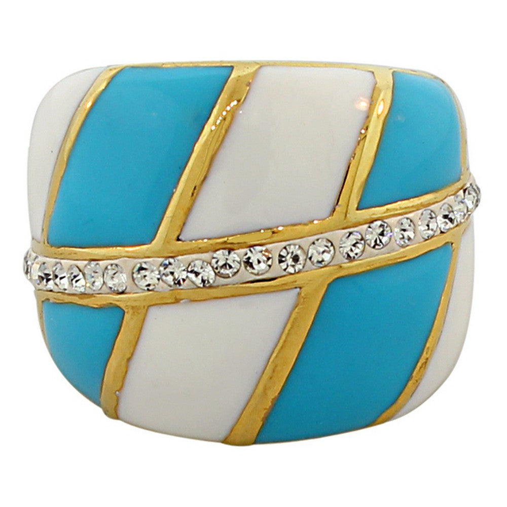 Blue Stripes Ring