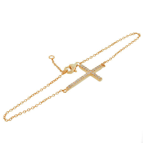 Stylish Sideways Cross Bracelet