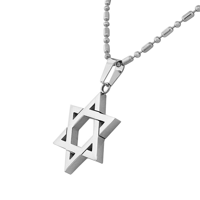 Classic Star of David Necklace Stainless Steel