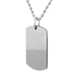 English Necklace Dogtag