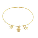 Judaical Gold Bangle