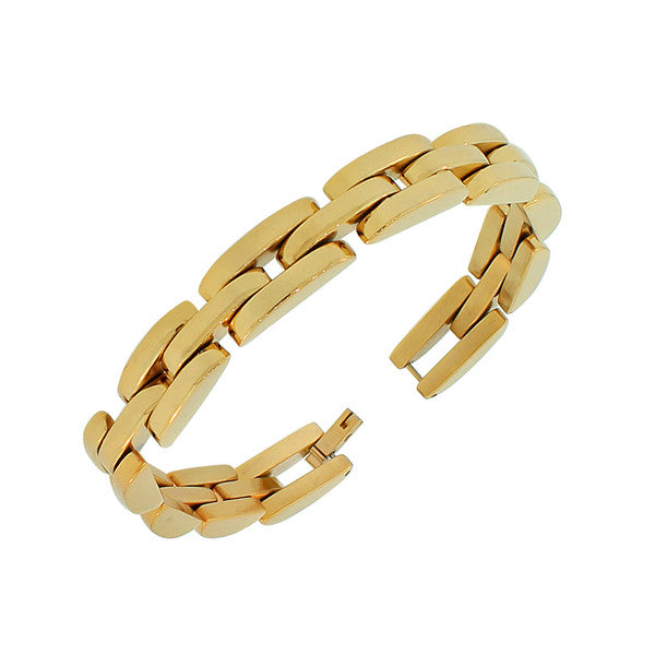 Mens Golden Link Bracelet