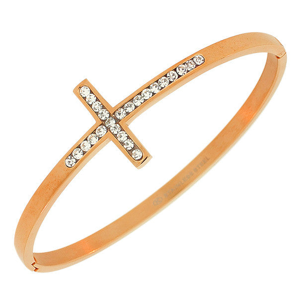 Rose Cross Bangle