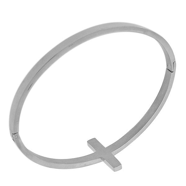 Silver Cross Bangle