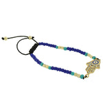 Blue Jazz Hamsa Beads