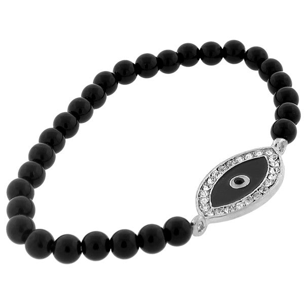 Smoky Evil Eye Beads