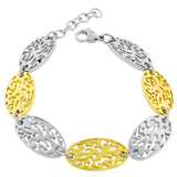 Stainless Steel Two-Tone Links Chain Bracelet