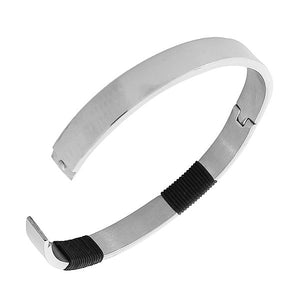 Black and Silver Bangle