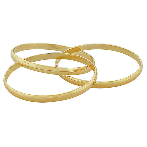 Gold Interlocking Bangles