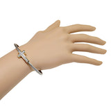 White Cross Bangle