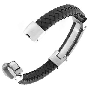 Black Chrome Leather