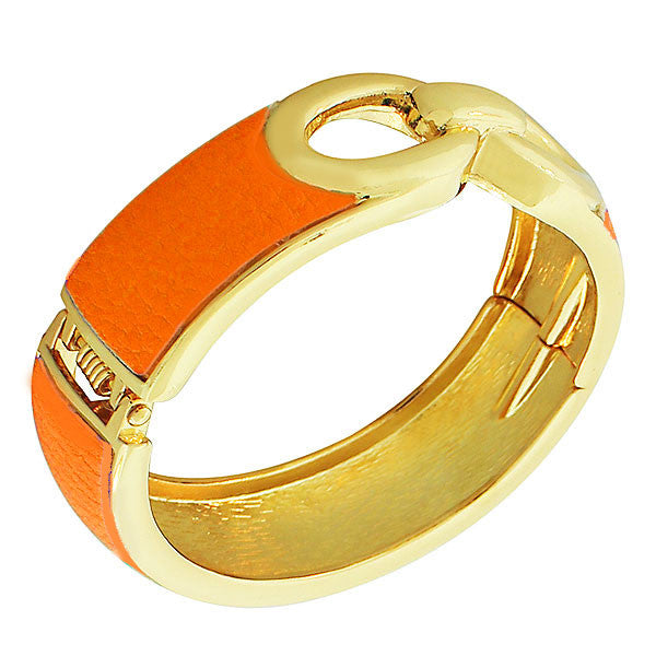 Orange Knot Bangle