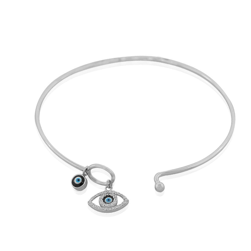 Blue Evil Eye Bangle