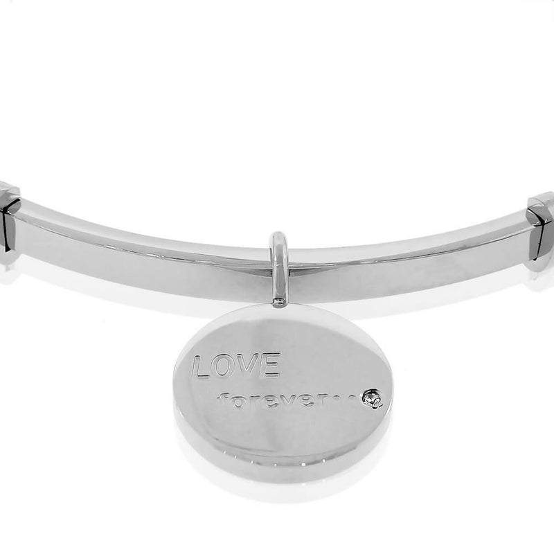 Chrome Love Forever Bangle