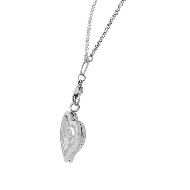Floating Heart Charm Necklace