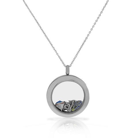 EDFORCE Stainless Steel Sea Marine Fish Locket Pendant Necklace - Charms Included
