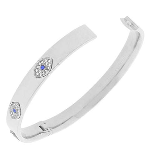 White Evil Eye Bangle