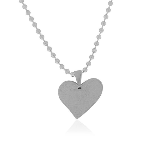 EDFORCE Stainless Steel Silver-Tone Love Heart Padre Nuestro Prayer in Spanish Pendant Necklace, 24""