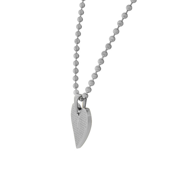 Simple Dainty Heart Necklace Pendant Stainless Steel