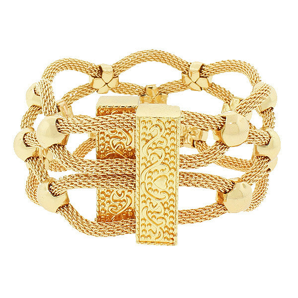 Gold Ball Crown Bracelet