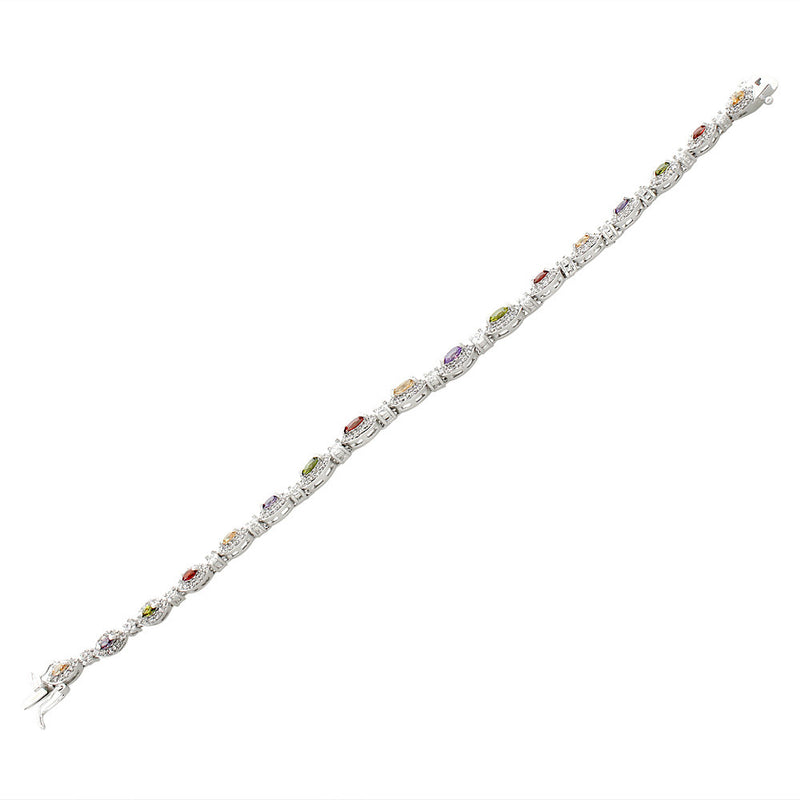 Multicolor Rainbow Tennis Bracelet
