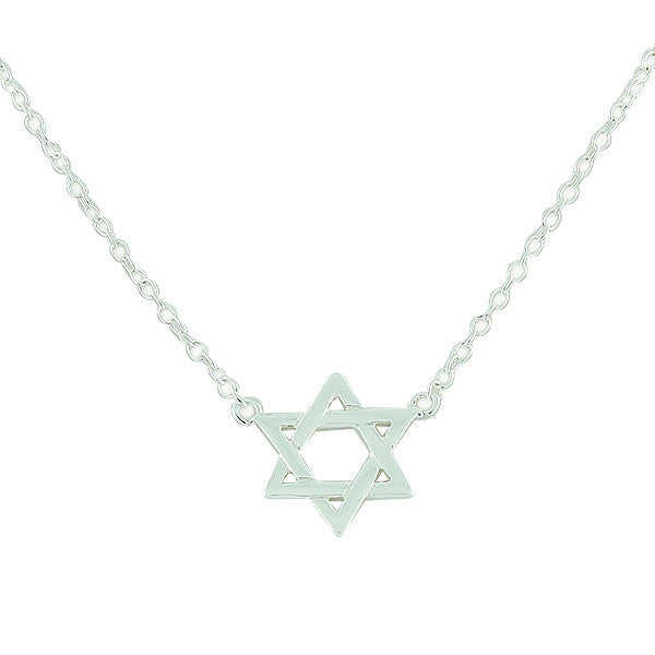 925 Sterling Silver Jewish Star of David Pendant Necklace