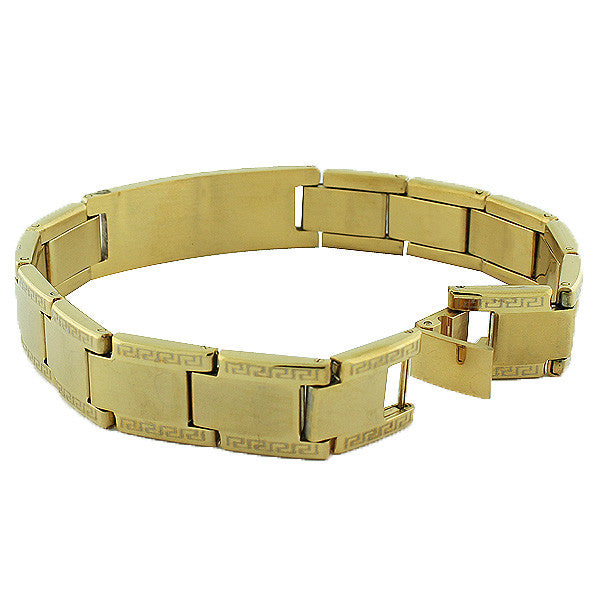 Gold Greek Bike Bracelet