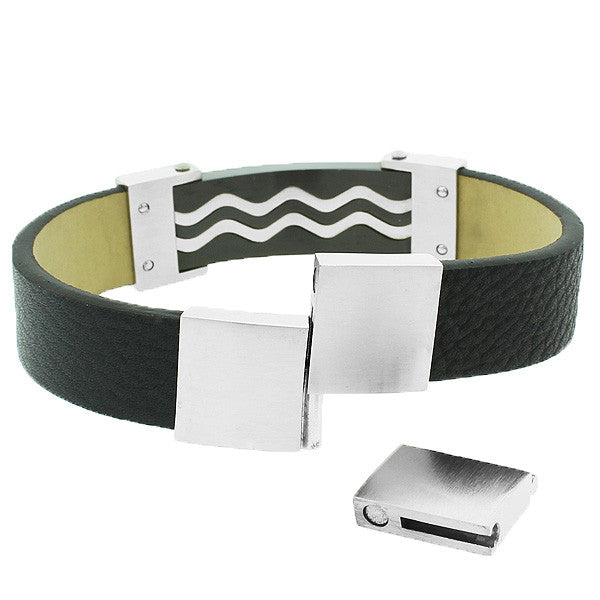 Swirl Leather Bracelet