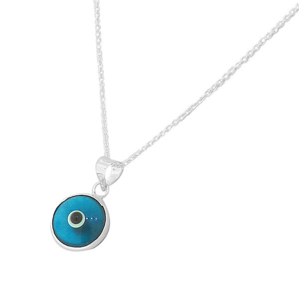 Classic Evil Eye Necklace Sterling Silver