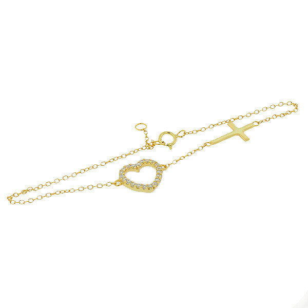 Gold Love Chain Link