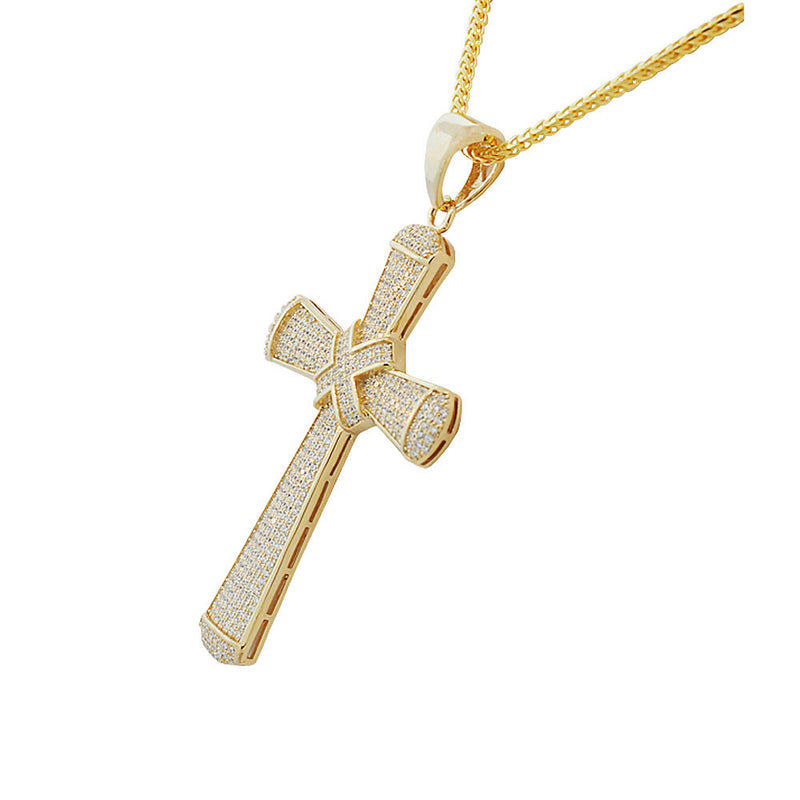 Sparkling Hip-Hop Cross Necklace