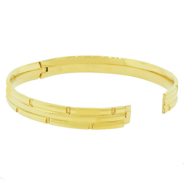 Crystal Gold Faceted Bangle