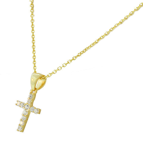 Gold Star Cross Necklace