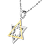 Two-Tone Star of David Pendant