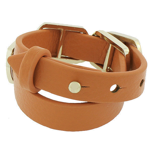 Brown Square Wristband
