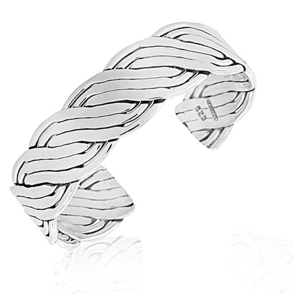 925 Sterling Silver Classic Small Open End Womens Girls Cuff Bangle Bracelet