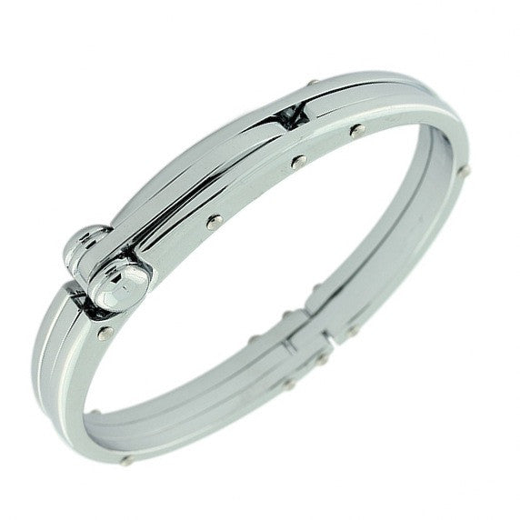 Handcuff Stainless Steel Mens Bracelet