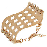 Stainless Steel Rose Gold-Tone Womens Links Chain Bracelet with Clasp