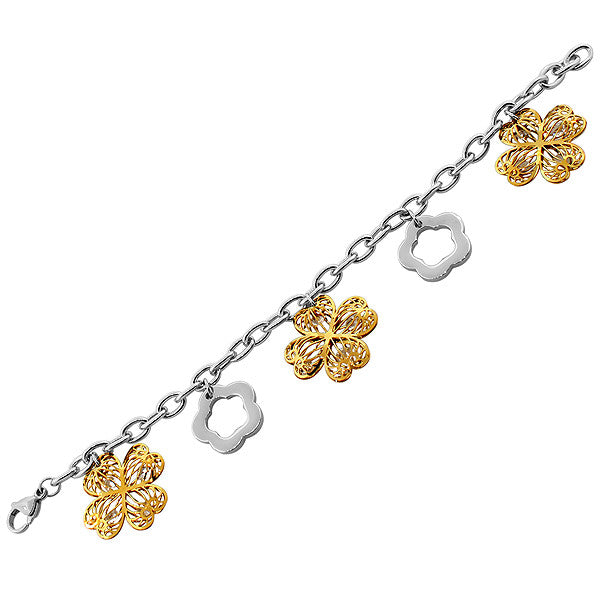 Golden Flower Charm Bracelet