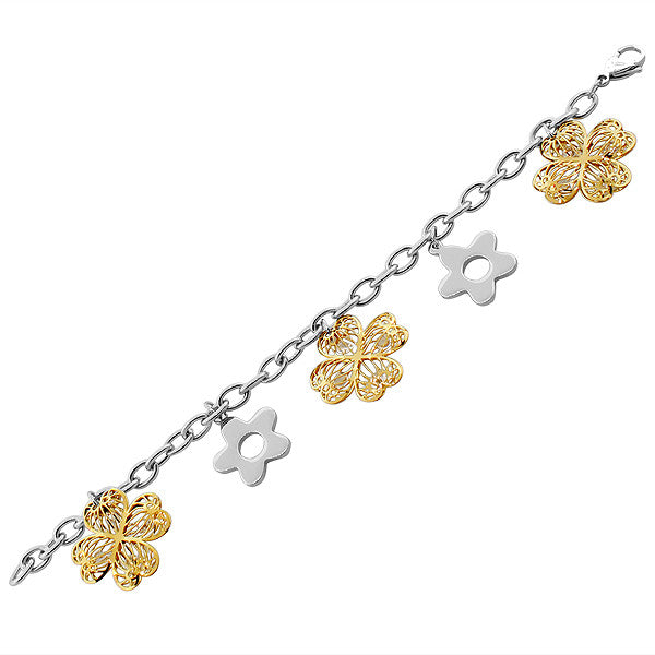Treasure Flower Charm Bracelet