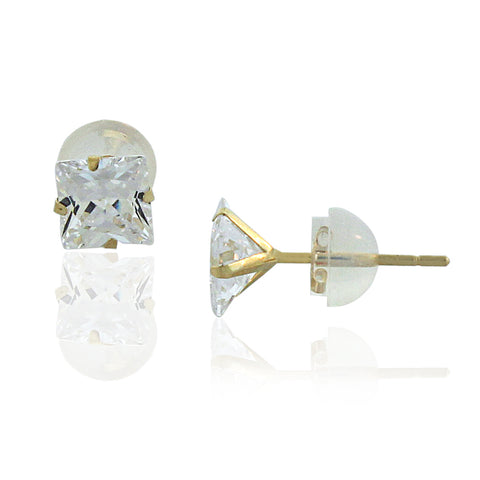 14K Gold Princess Studs