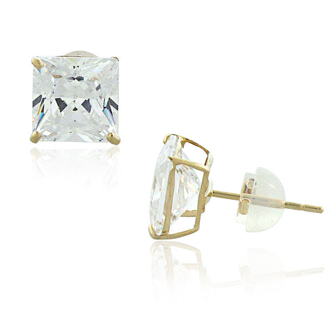 14K Gold Gemstone Studs