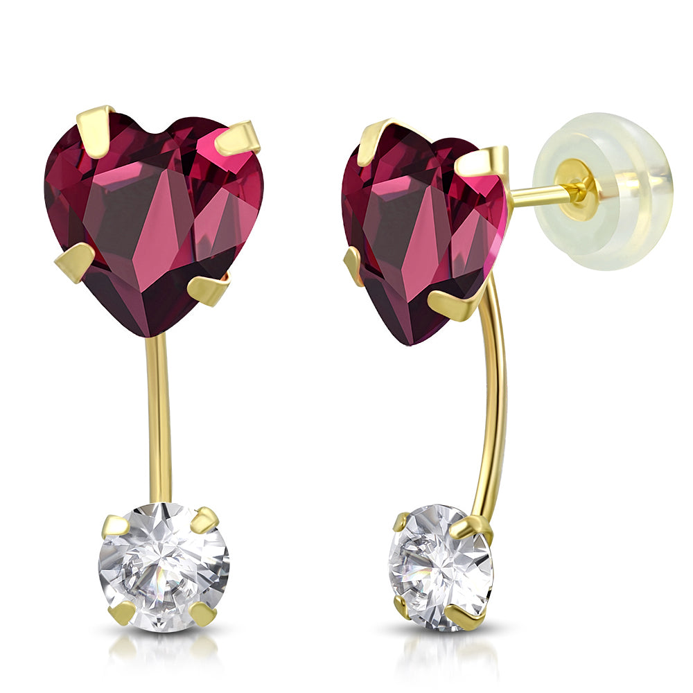 Magenta Drop Stud Set