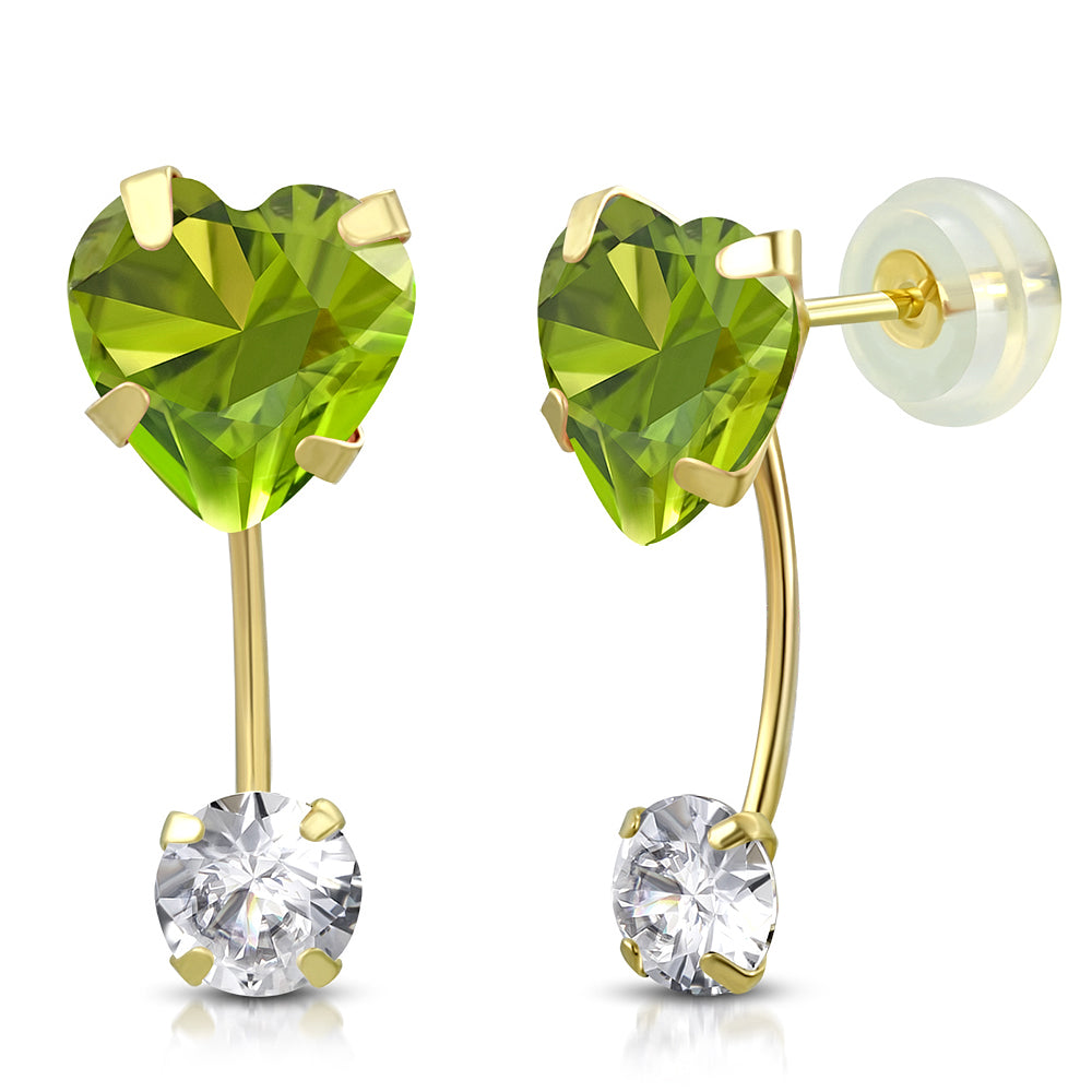 Light Green Drop Stud Set