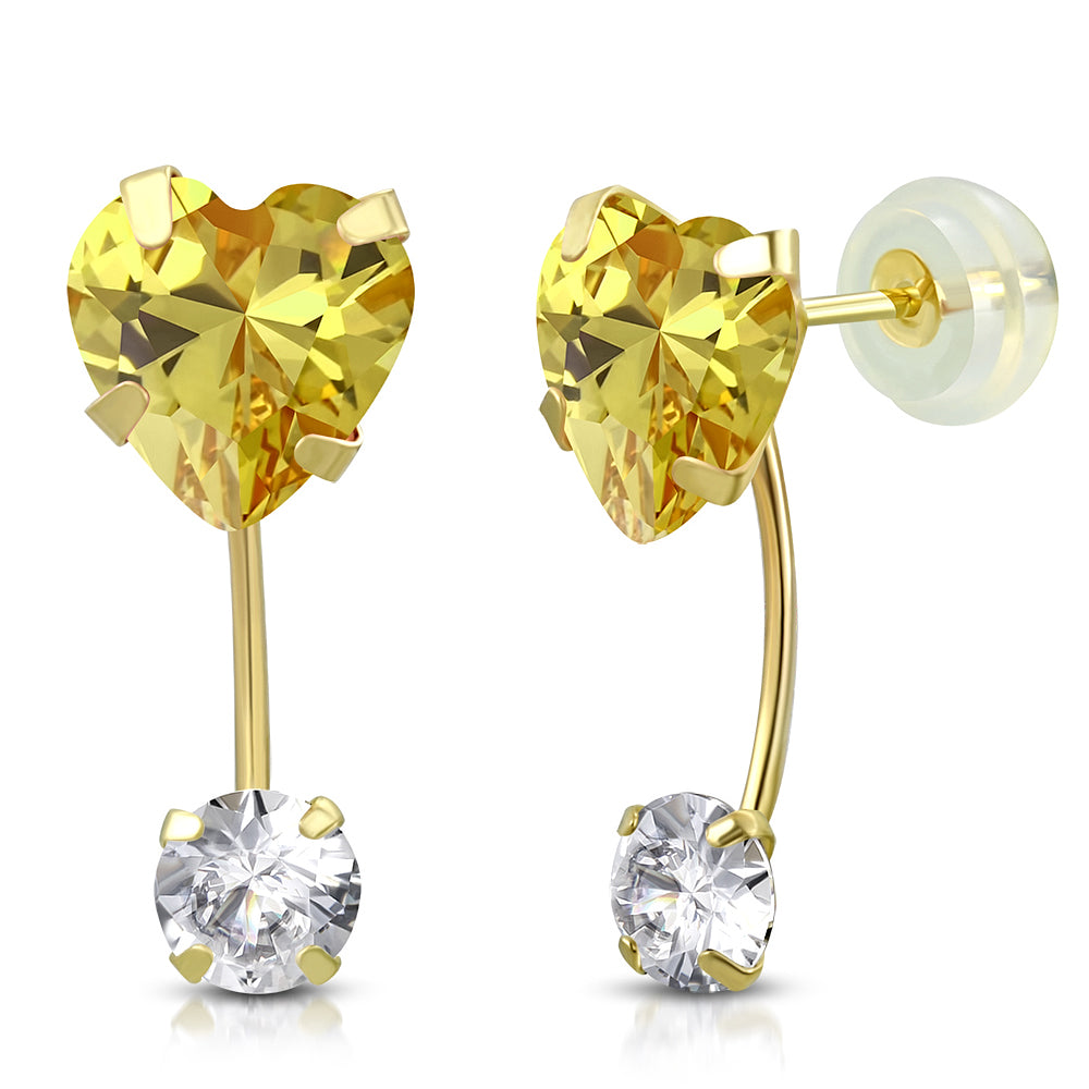 Yellow Drop Stud Set
