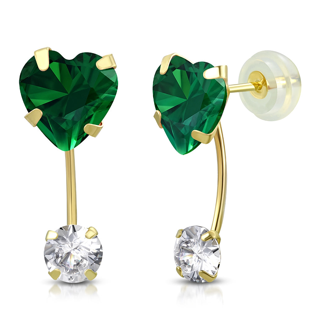 Emerald Drop Stud Set