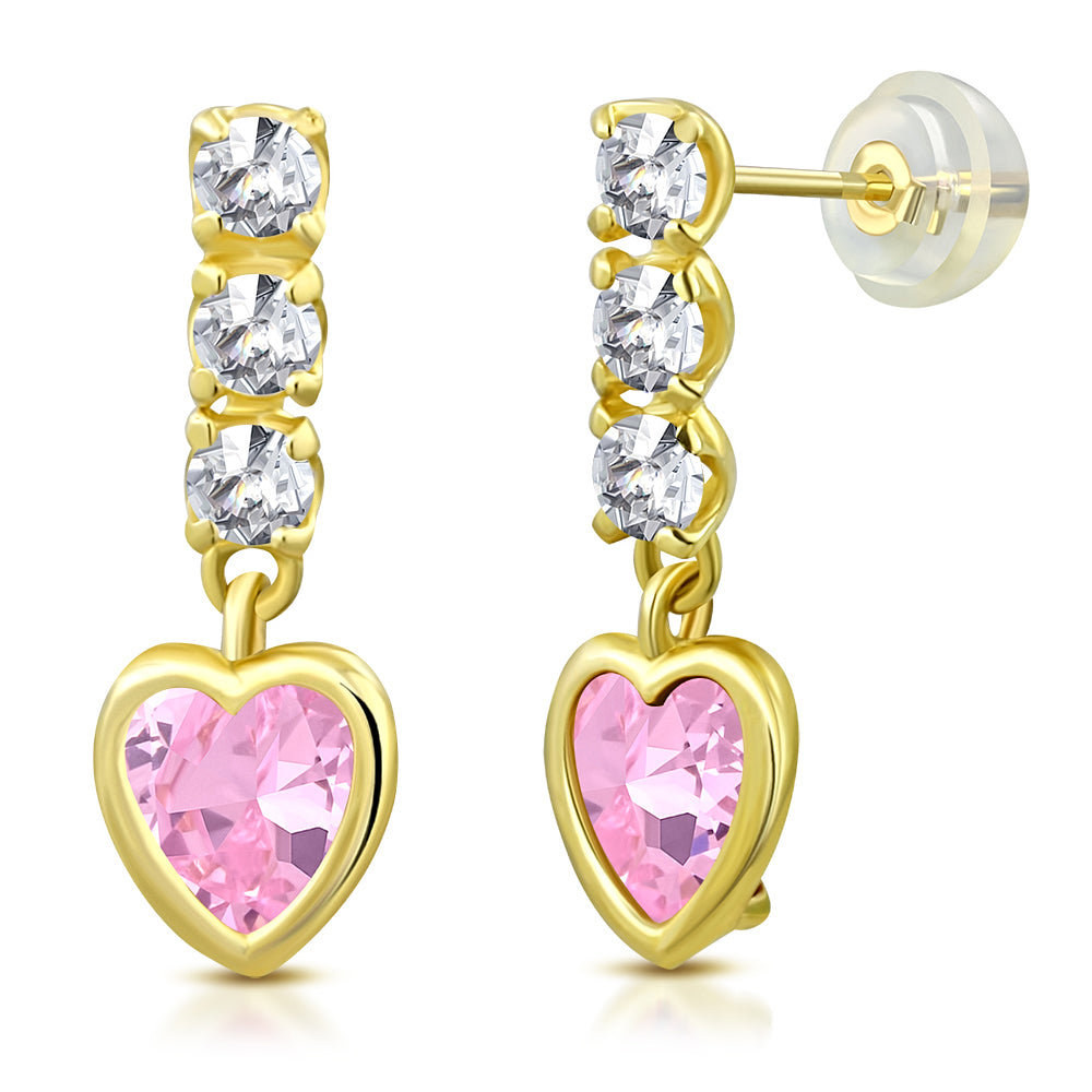 Pink Princess Drop Earrings