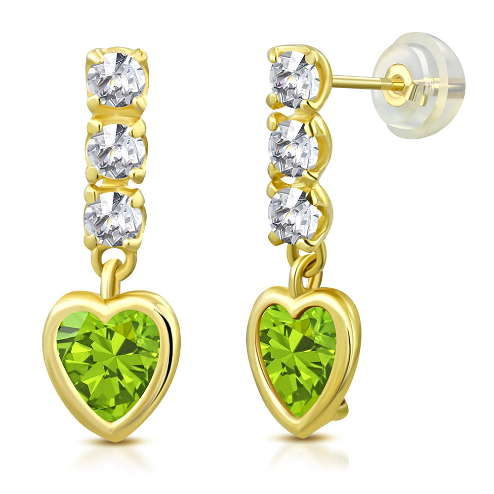 Emerald Princess Drop Earrings
