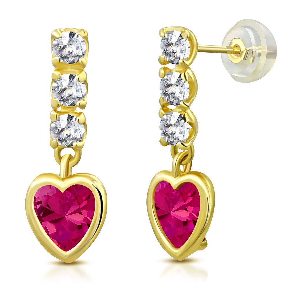 Magenta Princess Drop Earrings